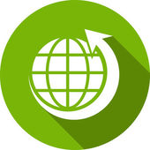 Eco Flat Icon — Stockvector