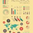 Alcohol Infographic Template. — Stock Vector