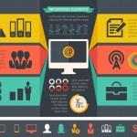IT Industry Infographic Elements — Stock Vector #43656475