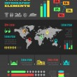 Travel Infographic Template. — ストックベクタ