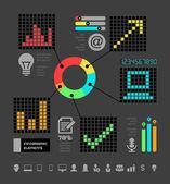 IT Industry Infographic Elements — Stock Vector