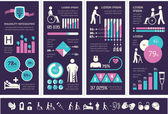 Disability Infographic Template. — Stockvektor