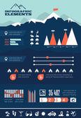 Travel Infographic Template. — ストックベクタ