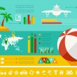 Travel Infographic Template. — Cтоковый вектор