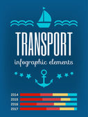 Transportation Infographic Elements. — Stok Vektör