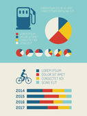 Transportation Infographic Elements. — Vettoriale Stock