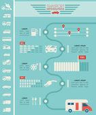 Ulaşım infographic şablonu. — Stok Vektör