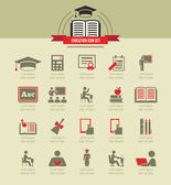 Education Infographics. — Vettoriale Stock