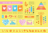 Healthy Food Infographic Template. — Vector de stock
