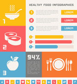 Healthy Food Infographic Template. — Stock Vector