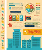 Real Estate Infographics. — Stok Vektör