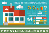 Real Estate Infographics. — Stock Vector