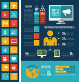 Social Media Infographic Template. — Stock vektor