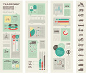 Transportation Infographic Template. — Stockvector