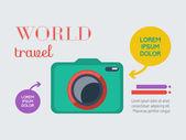 Travel Infographic Element — Vector de stock