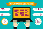 Technology Infographic Element — Stock Vector