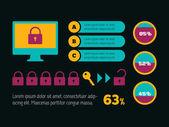 Technology Infographic Element — Vetor de Stock