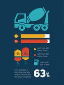 Transportation Infographic Element — ストックベクタ