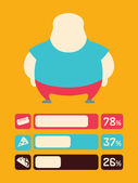 Food Infographic Element — Stock Vector