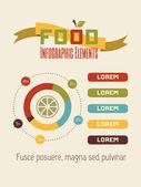 Voedsel Infographic Element — Stockvector