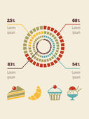 Food Infographic Element — 图库矢量图片