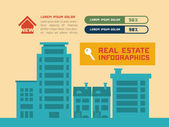 Real Estate Infographic Element — Stock Vector