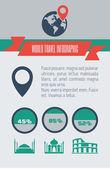 Travel Infographic Element — Stock Vector