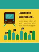 Transporte elemento de infografía — Vector de stock