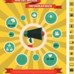 Постер, плакат: Social Media Infographic Template