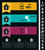 Real Estate Infographics. — ストックベクタ