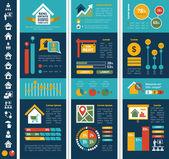 Infografica immobiliari. — Vettoriale Stock