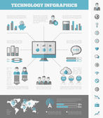 Es la industria infográfica elementos — Vector de stock