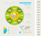 Transportation Infographic Template. — Stock Vector