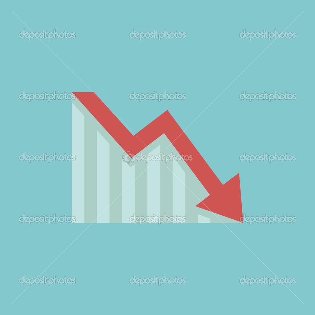 decrease flat icon vector graphics dpps 59553117 decrease 2015 renderDecrease Arrow
