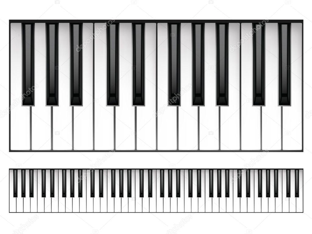 钢琴键盘 — 图库矢量图片 #5162593