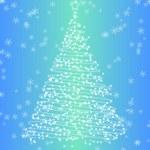 Winter fir-tree — Stock Vector
