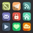 Set of Flat Icons for Web and Mobile Apps — Stock Vector