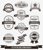 Set of vintage retro labels, calligraphic elements — Stock Vector