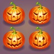 Set of Halloween pumpkin — Stock Vector