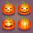 Set of Halloween pumpkin — Stock Vector #31676645