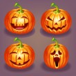 Set of Halloween pumpkin — Stock Vector #31676723