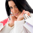 Woman holding shopping bags — Stock Photo #1348180