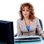 Senior woman at work — Stock Photo #1366721