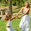 Young woman having fun with her daughter — Stock Photo #1369977