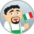 Man from Italy — Stock Vector #2349426