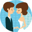 Sweet wedding — Image vectorielle