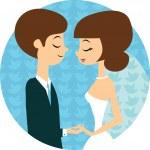 tatlı düğün — Stok Vektör