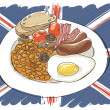Stock Vector: Full English breakfast