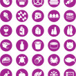Stock Vector: Grocery icons