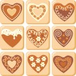 Sweet hearts — Stock Vector